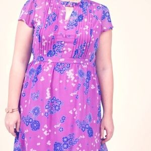 Modcloth Summer Dress with Blue and White Flowers